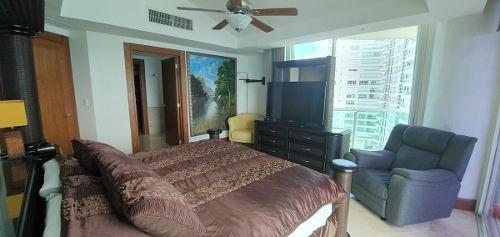 bay view grand departamento de lujo frente al mar en  renta de 3  recámaras amueblado.  zona hotelera. cancún, quintana roo, méxico