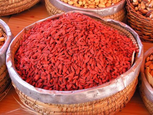 bayas de goji, lycium, cereza del tibet