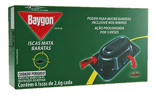baygon isca mata baratas (( kit c/18 iscas ))