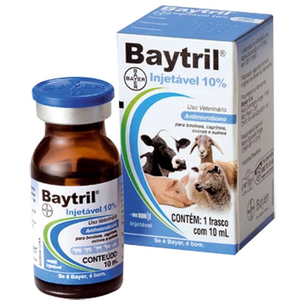 baytril antibiótico injetável 10% 10ml bayer enrofloxacino. Carregando zoom. f1f00a46645f7