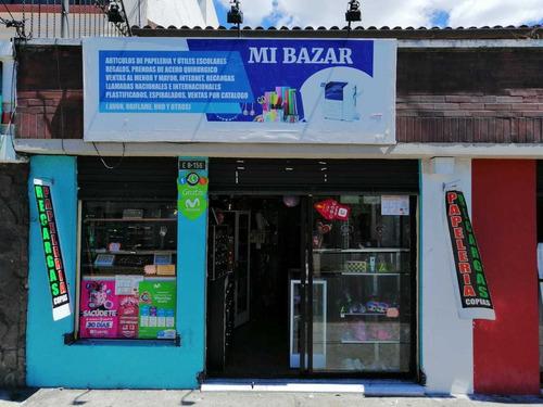 bazar  en excelente zona con gran variedad de inventario