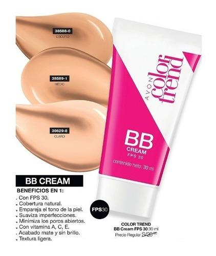 bb cream color trend mate base maquillaje avon nuevo sellado