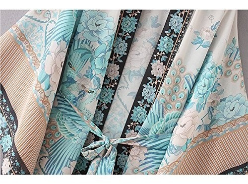 bb  y  kk verano para mujer estampado floral kimono cardigan