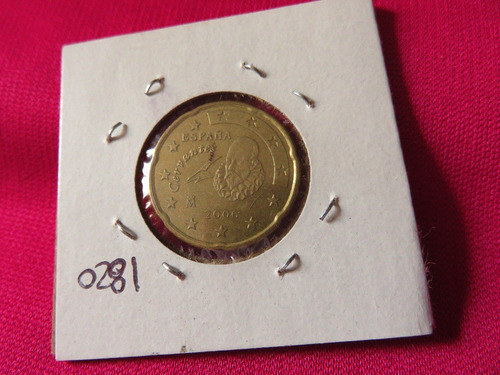 bb#1820 moneda españa cervantes 2006 20 centavos