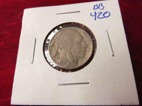 bb#420 usa five cent buffalo indio americano 1936