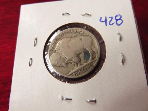 bb#428 usa five cent buffalo indio americano