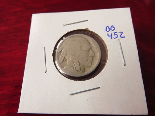 bb#452 usa five cent buffalo indio americano