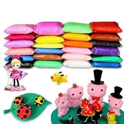 Bblike 36 Colores arcilla seca del aire modelado suave Ultra Suave De Arcilla Polimérica Artesanía Plast