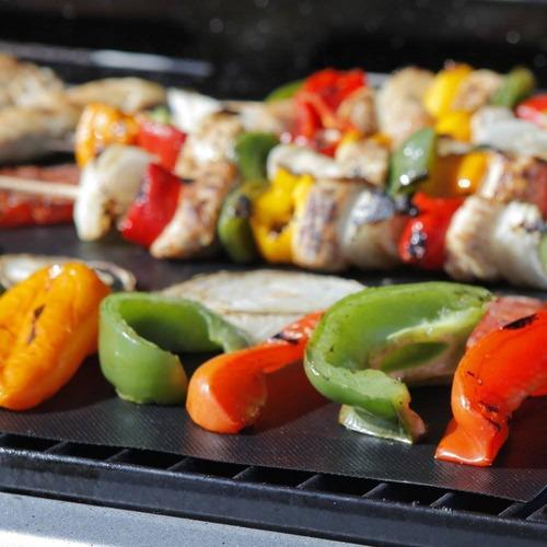 bbq grill mats :, 2 de alta calidad antiadher + envio gratis