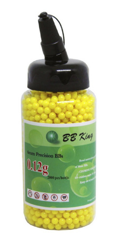bbs 0.12g munição airsoft 2000un esfera 6mm
