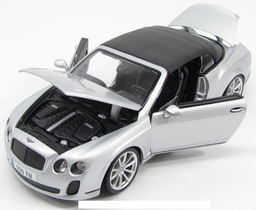 bburago bentley continental supersport convertible, 1:18