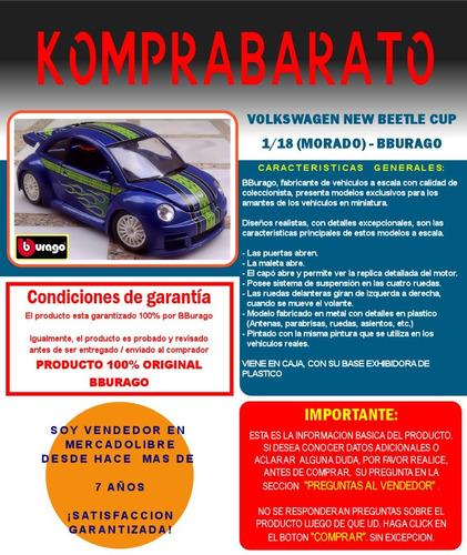 bburago volkswagen new beetle cup especial nuevo en caja