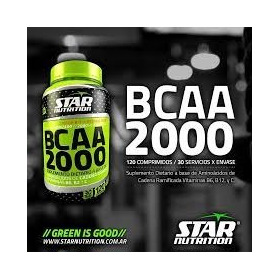 Bcaa 2000 Star Nutrition  120 Pas (solo Rosario) Fitworld
