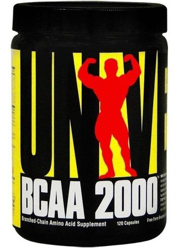 bcaa 2000 x 120caps - mejora el rendimiento - universal