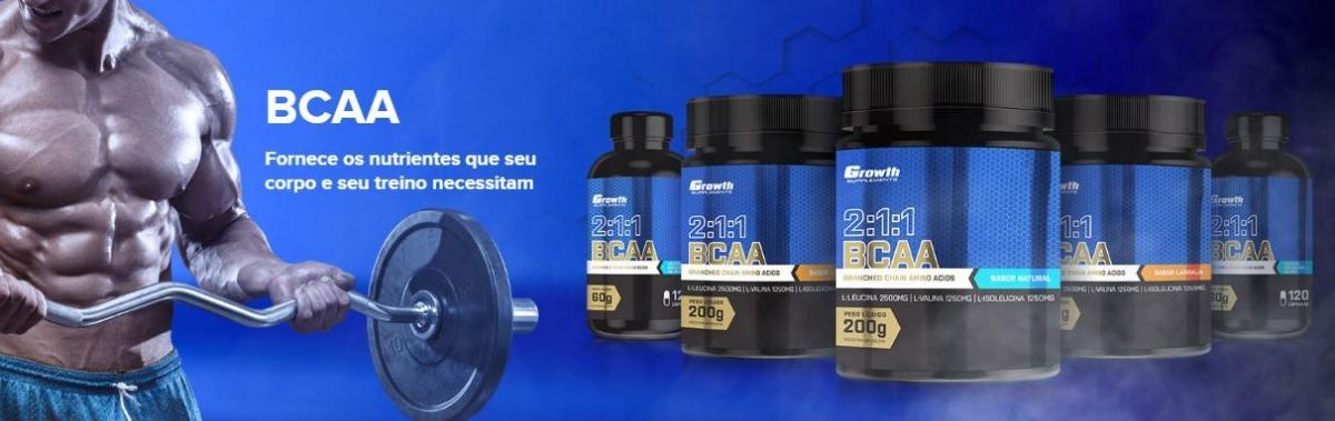 9af937d73 Bcaa (2 1 1) (200g) (em Pó) - Growth Supplements - R  65