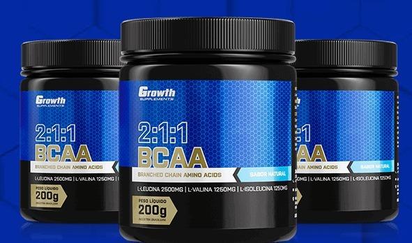 df7cc4a02 Bcaa (2 1 1) (200g) (em Pó) - Growth Supplements - R  69