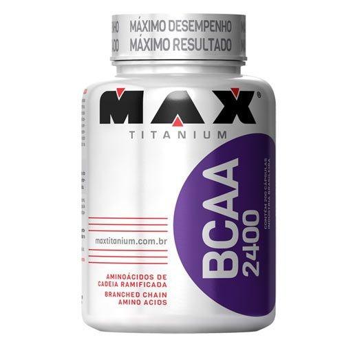 bcaa 2400 - 200 cápsulas - max titanium