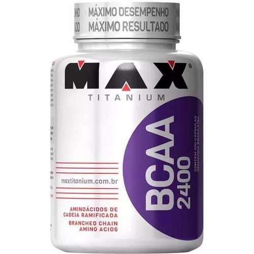 bcaa 2400 max titanium - 200 capsulas aminoacidos