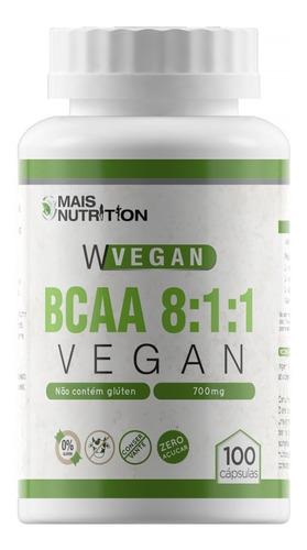 bcaa 8:1:1 vegan 100 cápsulas vegetal frete grátis brasil