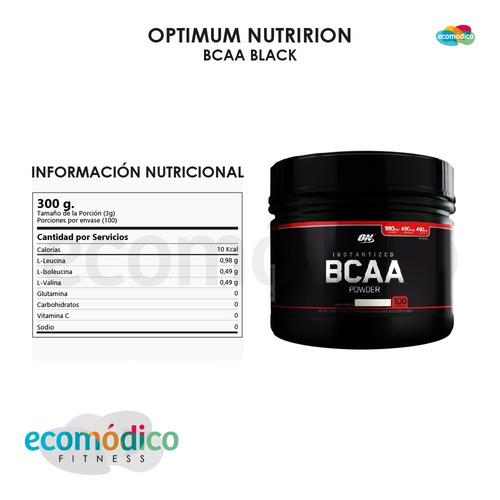 bcaa black 300 grs optimum nutrition aminoacidos