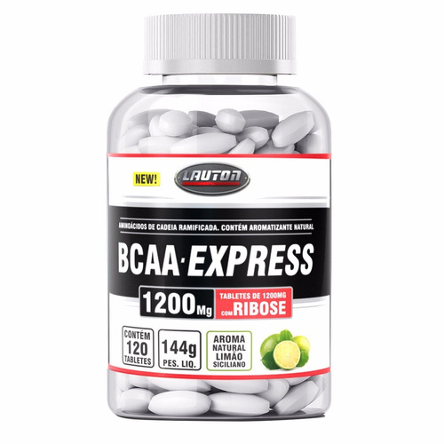 bcaa express - lauton nutrition - 120 tabs