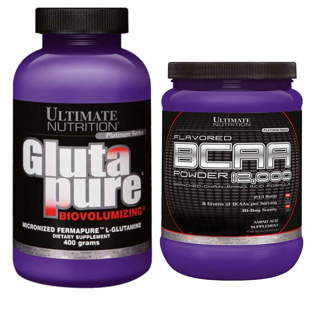 ecd929420 Bcaa + Glutamina Ultimate Nutrition Super Combo - R  179