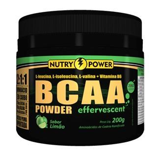 bcaa powder effervescent 200g  nutry power