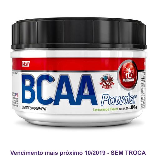 bcaa powder usa hidrossolúvel 300g - midway