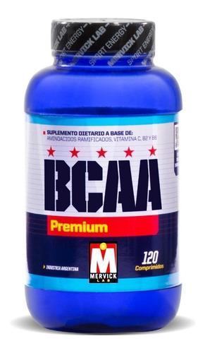 bcaa premium x 120 caps mervick lab aminoacidos ramificados