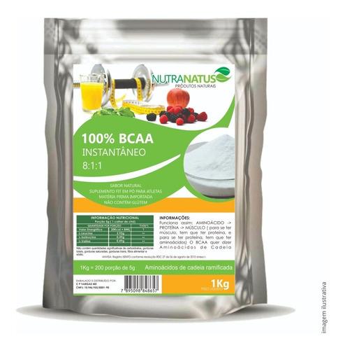 bcaa puro importado em pó 8:1:1 instantâneo 1kg + brinde