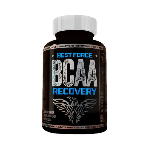 bcaa recovery - 120 cápsulas - best force nutrition