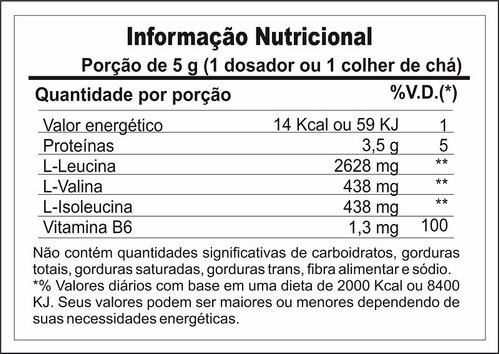 bcaa super 6:1:1 em pó 300g + glutamina 300g + creatina 300g