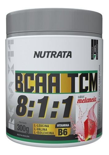 bcaa tcm 8.1.1 vários sabores 300g - nutrata