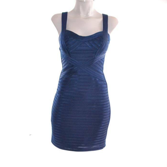 5fa2e776e Bcbg Vestido Azul Electrico Corto 02 Mrsp 5000 -   1