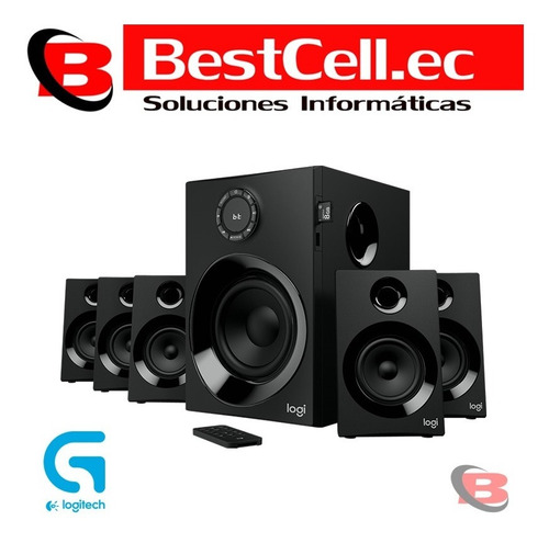 bc.ec parlantes logitech z607 5.1, bluetooth\sd\fm\usb, 160w