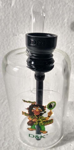 bd06 bong burbujero agua d&k 11cm boquilla vidrio olla metal