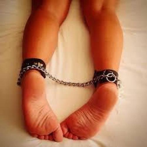 bdsm tobilleras con cadena articulos - sexshop - sado - .
