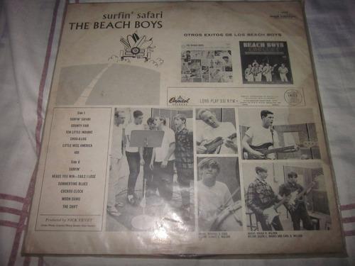 beach boys - surfin safari lp vinilo promocional, para radio
