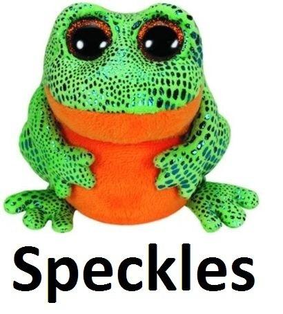 beanie boos pelúcias - sapo - speckles - ty dtc