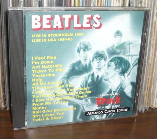 beatles cd live in stockholm & usa 1963 - 64 - 65