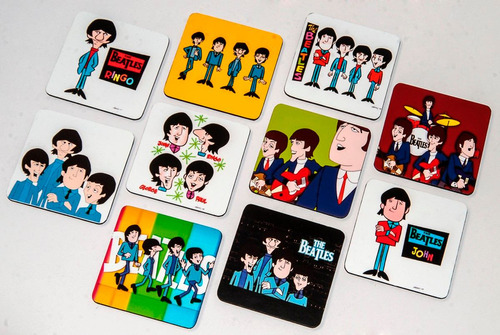 beatles coleccion posavasos cartoons