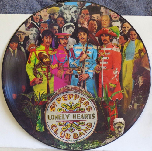 beatles sgt. peppers en vinilo picture disc de colección
