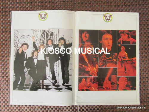 beatles wings paul mccartney programa gira 1979 rarisimo uk
