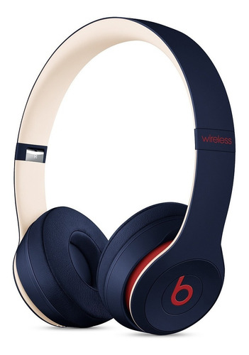 beats audífono solo 3 wireless on ear club collection navy