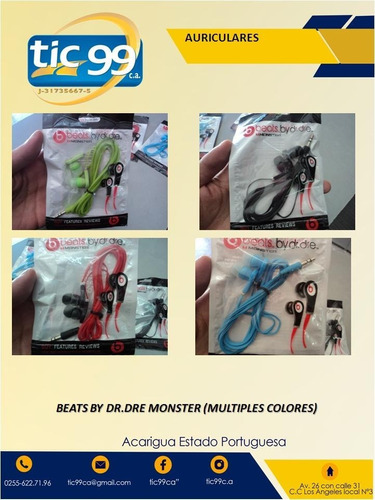 beats by dr. dre monster auriculares diferentes colores