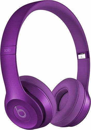 beats by dr. dre solo 2 auriculares vincha - violeta
