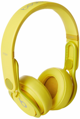 beats mixr wired on-ear headphone reconstruidos c. amarillo