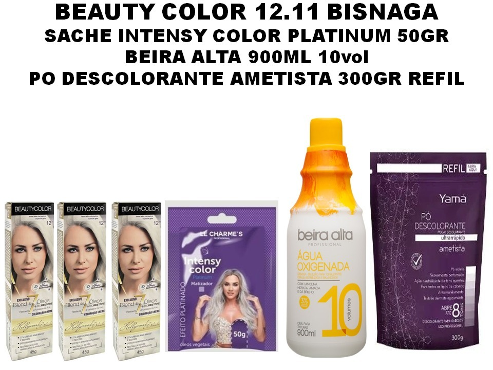 53d74557e Beauty Color 12.11 + Po 300g+oxigenada 900ml+matizador 50gr - R$ 120 ...