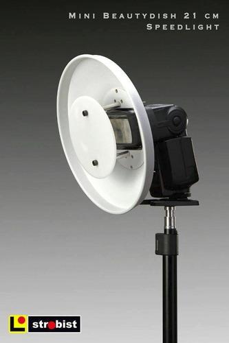 beauty dish iluminación fotografía video para speedlight