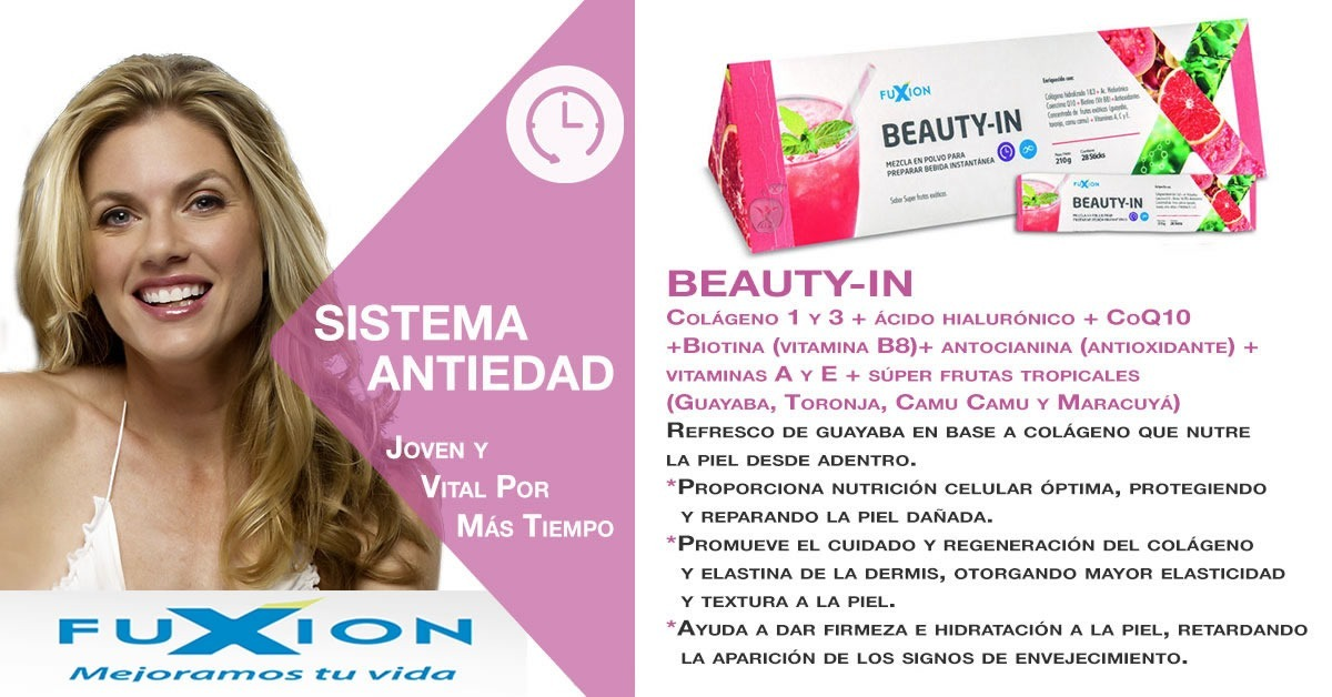 beauty in fuxion colageno rejuvenecedor linda piel natural s